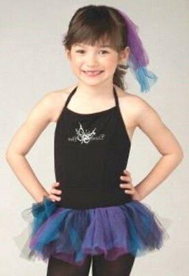 Nwt Diva Halter Leotard Tutu Skirt Butterfly Black Girl