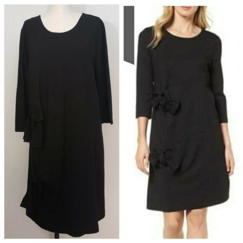 nwt tie detail black dress size xl
