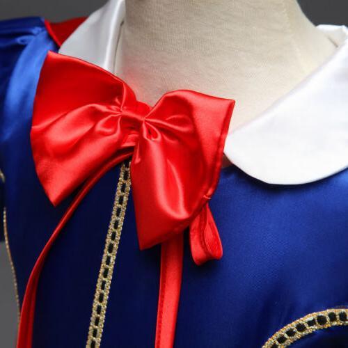 Princess Snow Up Dresses Girls Halloween Party Dress