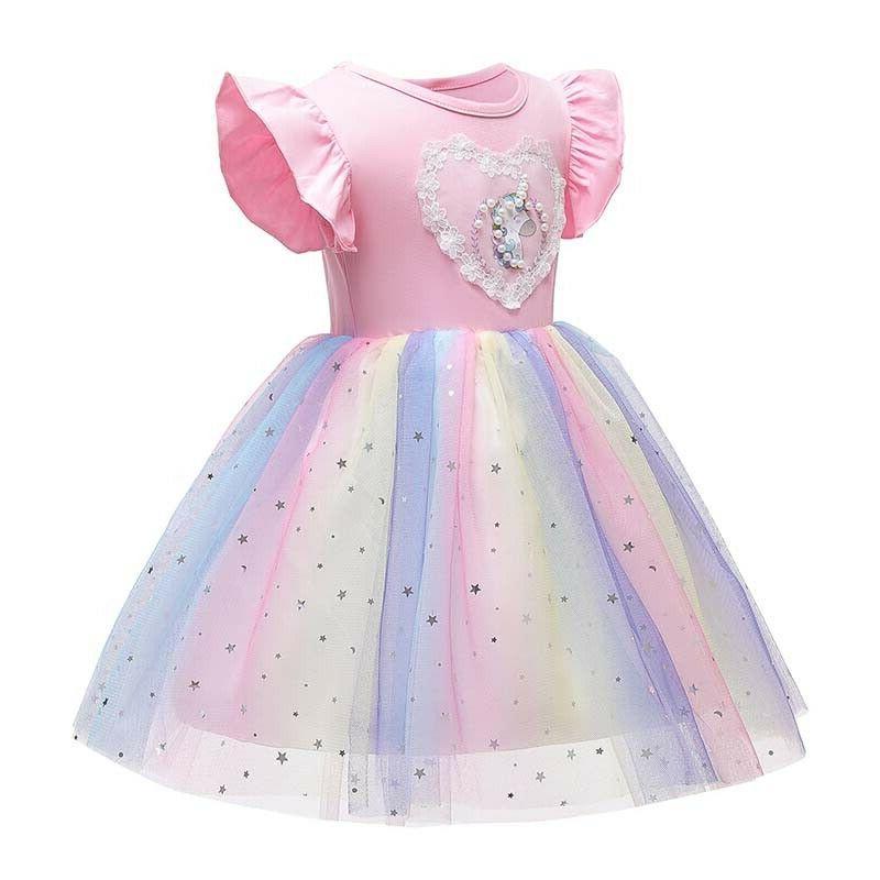 Princess Kids Girls Unicorn Tutu Dress