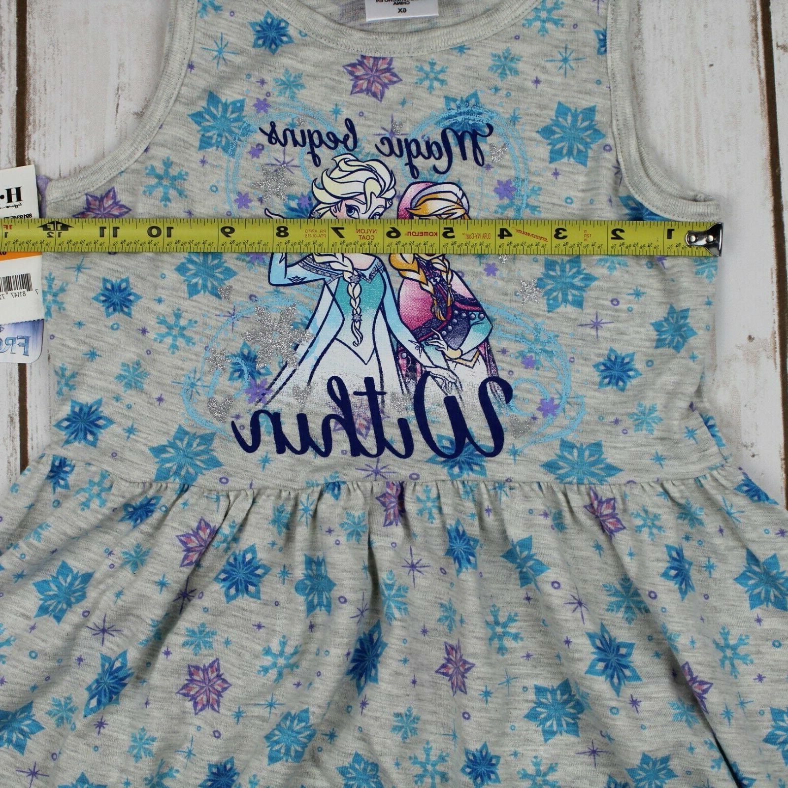 Disney's Frozen Snowflake-Print Dress Girl