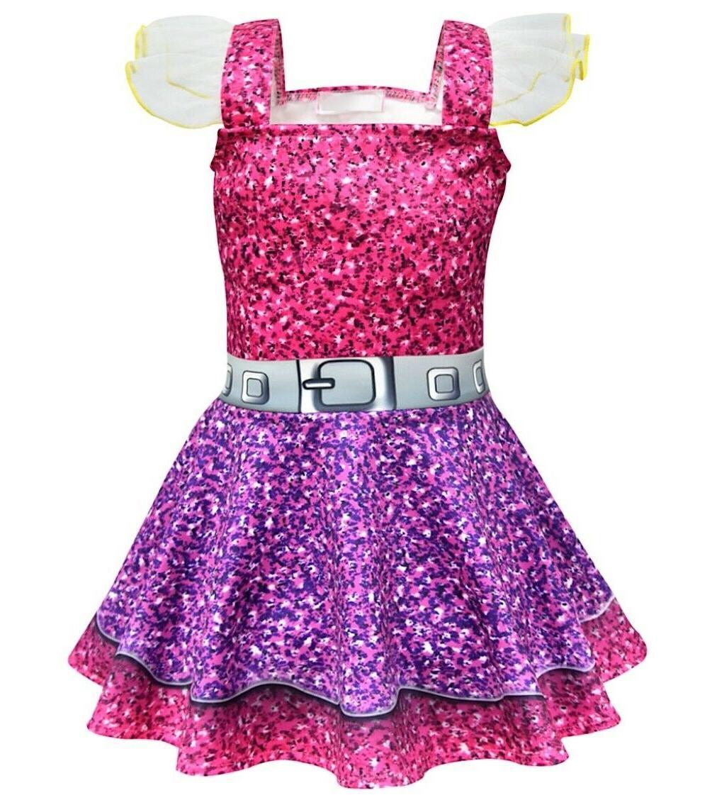 Simil Lol Purple Dress Cosplay Fleeced