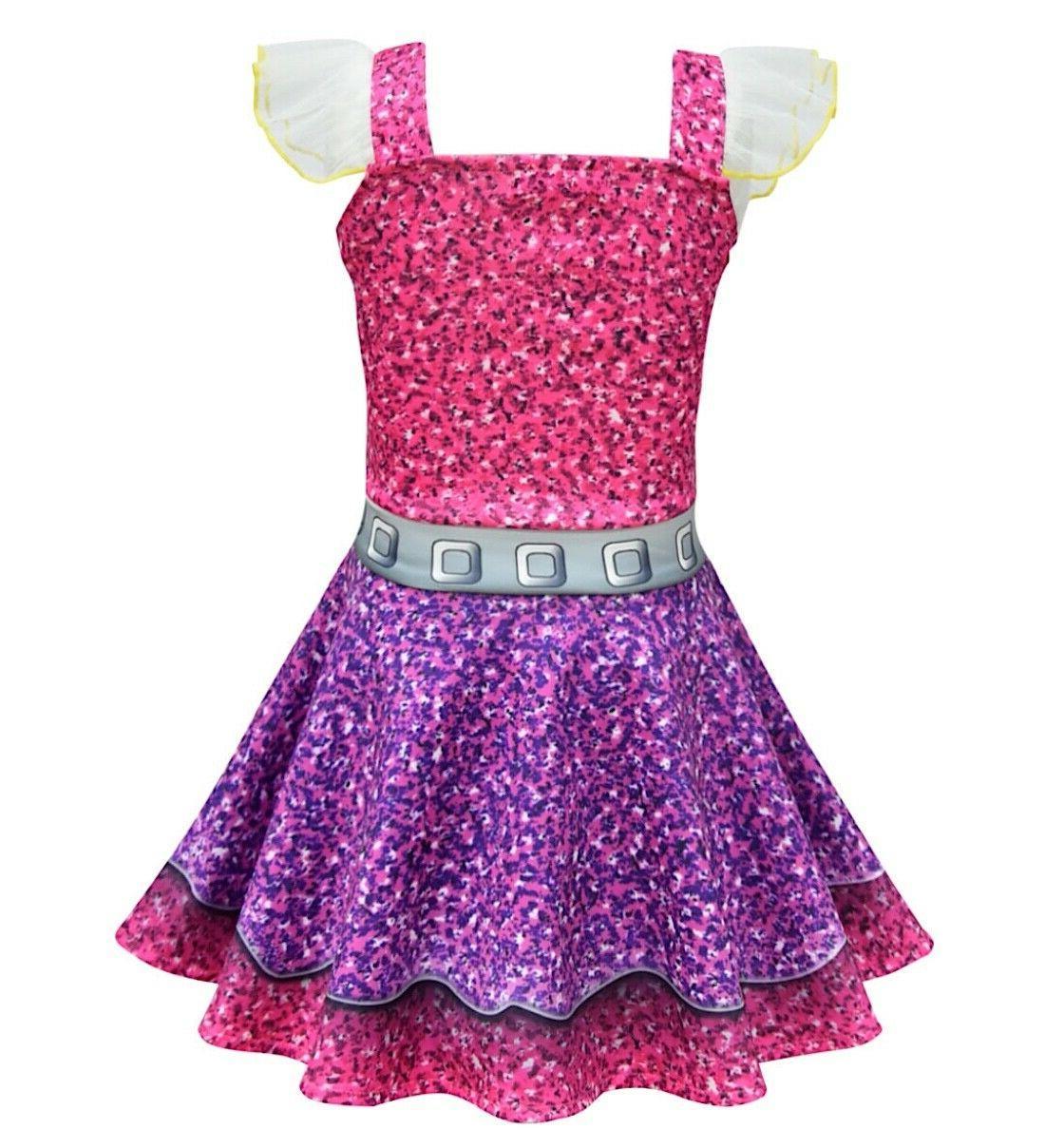 Simil Lol Purple Dress Child Fleeced LOLPUQ1