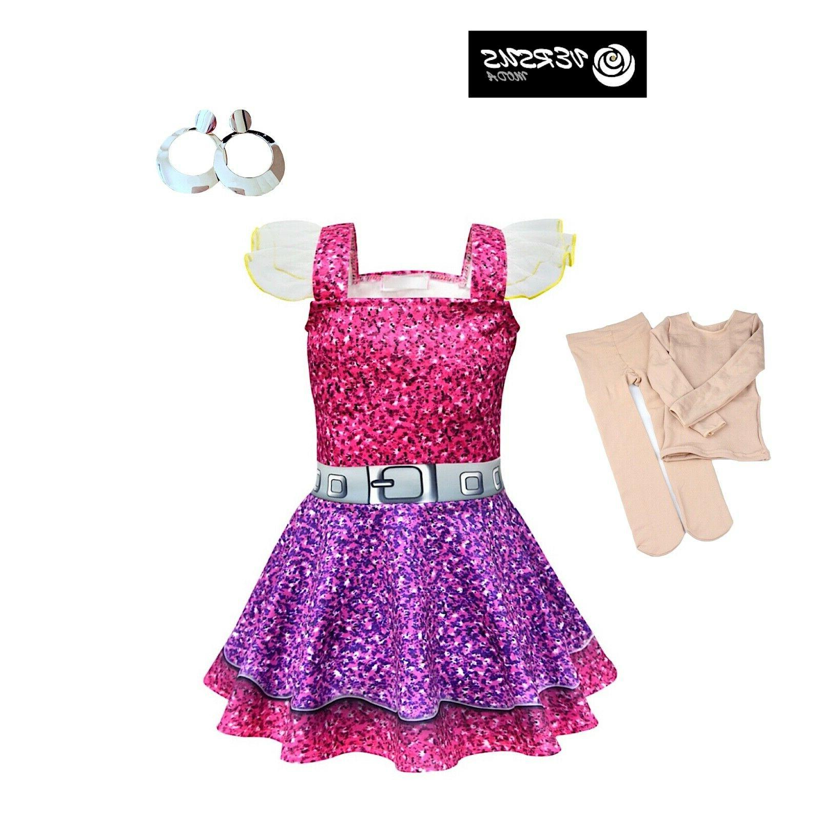 simil lol purple queen dress cosplay child