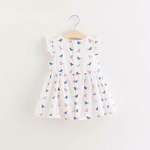Summer Cotton White Printed Dress Baby Girl Free World