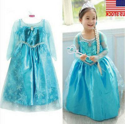 Princess Anna Elsa Costume Party