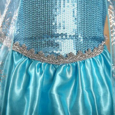 Toddler Girl Princess Elsa Costume Kid's Party Dress