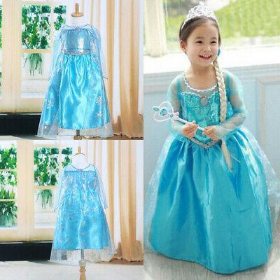 Toddler Girl Kid Children Princess Elsa Costume