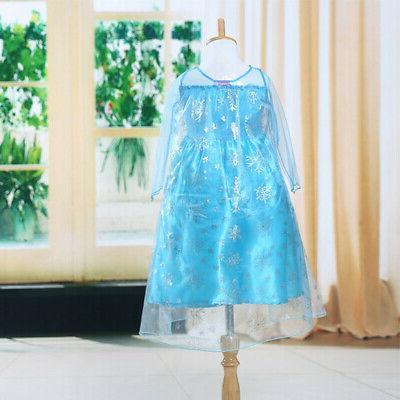 Toddler Girl Kid Princess Anna Costume Kid's Dress