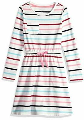 toddler girls long sleeve elastic white size