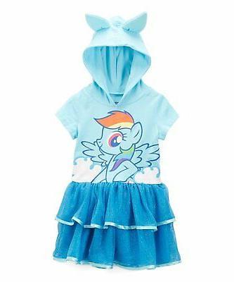 toddler girls rainbow dash costume ruffle dress