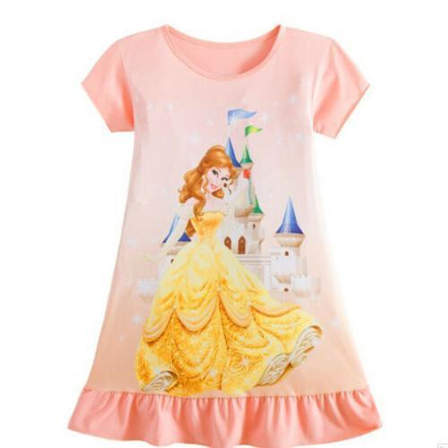 Toddler Kids Baby Rapunzel Print Summer Party