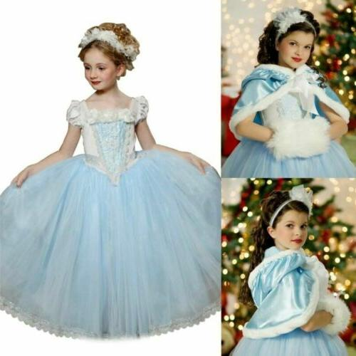 Toddler Costume Snow Princess Party + Cape
