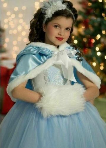 Costume Snow Party Dress Cape