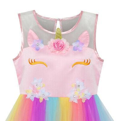 US Flower Dress Pageant Princess Size