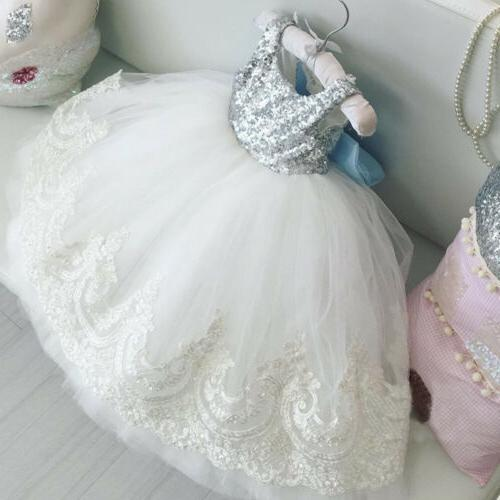 us toddler kids baby girls lace bowknot