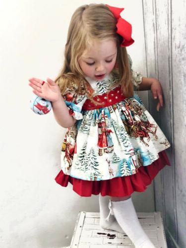 USA Christmas Flared Dress