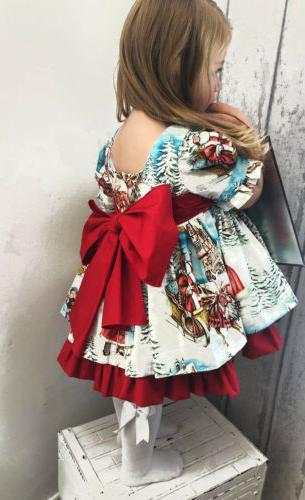 USA Toddler Baby Girl Flared Dress
