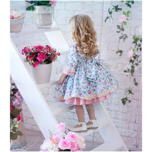 USA Girl Lace Bridesmaid Wedding Gown Kids