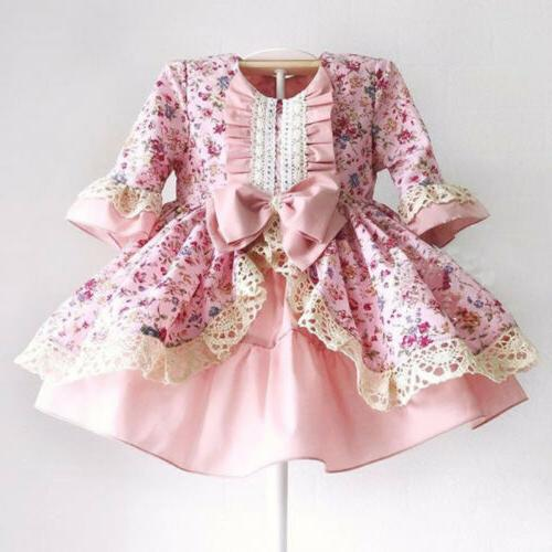 USA Girl Lace Wedding Gown for Baby Kids
