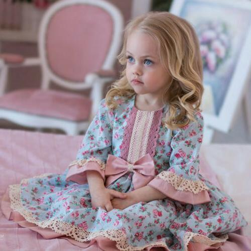 USA Flower Lace Bridesmaid Gown Kids