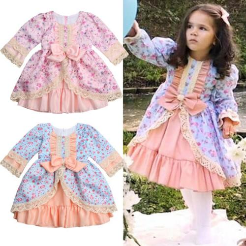 USA Lace Bridesmaid Wedding Gown Kids