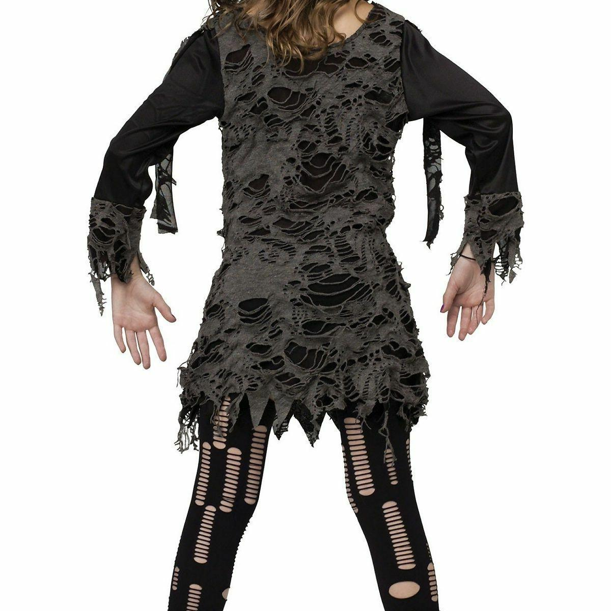 Walking Zombie Costume for Girls size & 12-14 New by World