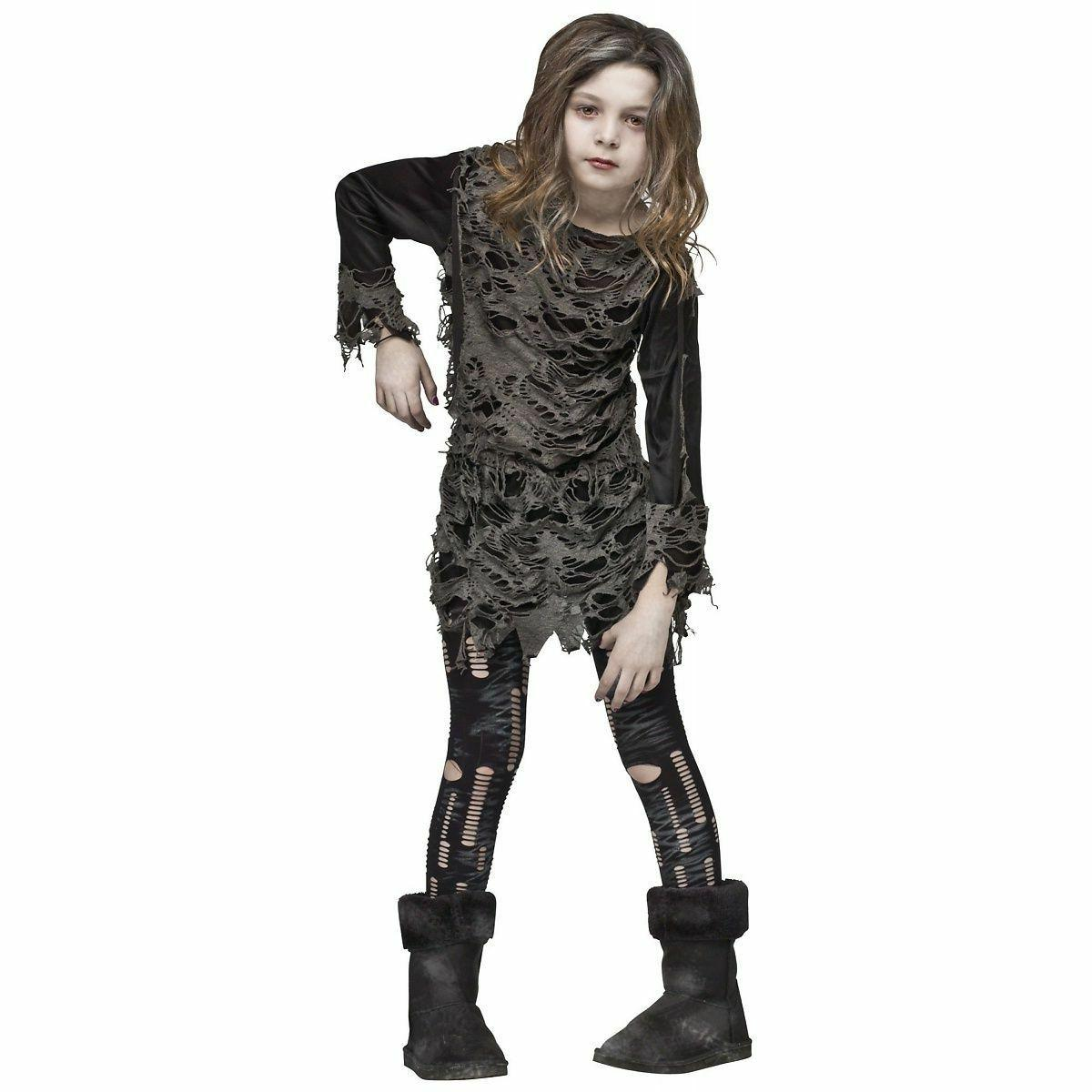 walking zombie costume for girls size 8