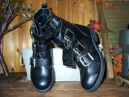 BIG BUDDHA LADIES  DRESS BOOTS SHOES WITH BUCKLE STRAPS 1 IN