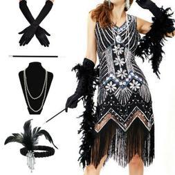 Ladies Gatsby Fancy Dress Accessories Flapper 20'S Charlesto