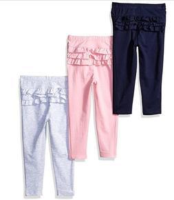 Leggings Toddler Girls Pants Long Ruffle Legging US Polo 3 P