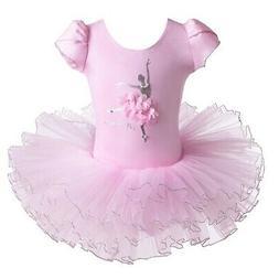 BAOHULU Leotard for Girls Ballet Dance Short Sleeve Full Tul