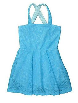 Hello Gorgeous Little/Big Girls Laced Flared Dress Size 4 5/