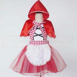 Little Red Riding Hood Costume Apron for Girl and Woman Dres