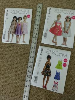 Lot of 3 McCalls Girl Easy PATTERNS All or Your Choice New D