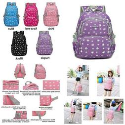 Lovely Dog Paw Prints Elementary Middle School Backpack Book