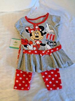DISNEY BABY MINNIE MOUSE 2T 24 MONTHS TODDLER BABY GIRL 2 PC