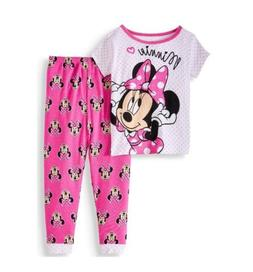 Minnie Mouse Cotton Tight Fit Pajamas 2pc Set Toddler Girls