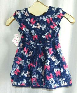 Disney Minnie Mouse Girl Toddler Ruffle Blue Pink White Dres