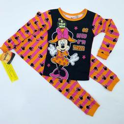 Disney Minnie Mouse Halloween Pajamas Girls, Choose Size, sn