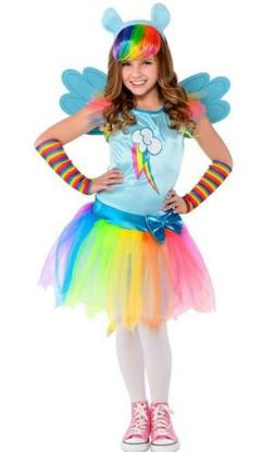 My Little Pony Rainbow Dash Costume for Girls, Size Large Wi