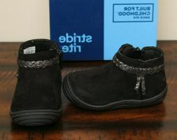 NEW Stride Rite BLACK ANKLE BOOTS sz 5 5.5 6 Toddler Girls S