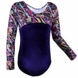 BAOHULU NEW Blue Pink Purple Girl's Size 14A Mix-Print Dance
