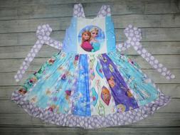 NEW Boutique Disney Frozen Ana Elsa Girls Sleeveless Ruffle