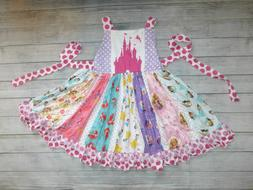 NEW Boutique Disney Princess Girls Sleeveless Ruffle Twirl D