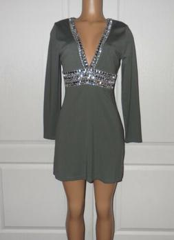 NEW VENUS Deep V Trim Cocktail Dress SIZE 8