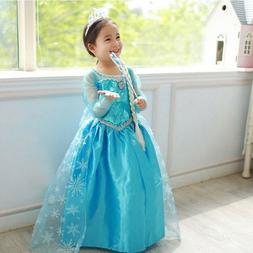 Girl Dresses Princess Children Anna Elsa Cosplay Costume Kid