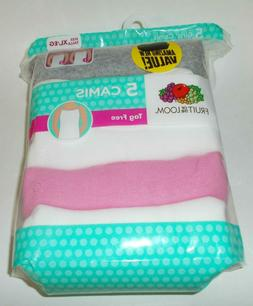 New Fruit of the Loom Girl's Cami Undershirts