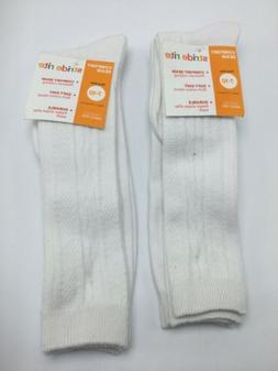 New Stride Rite Girls' 4 Pairs Uniform Knee High Socks White