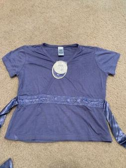 New Girls April Cornell Indigo Short Sleeve Shirt Size 9/10